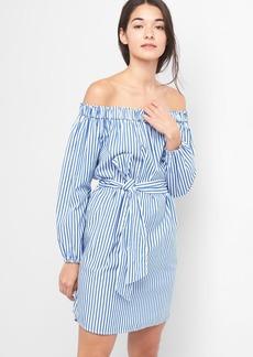 Stripe off-shoulder dress