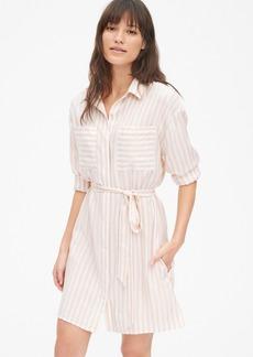 Gap Stripe Patch Pocket Shirtdress