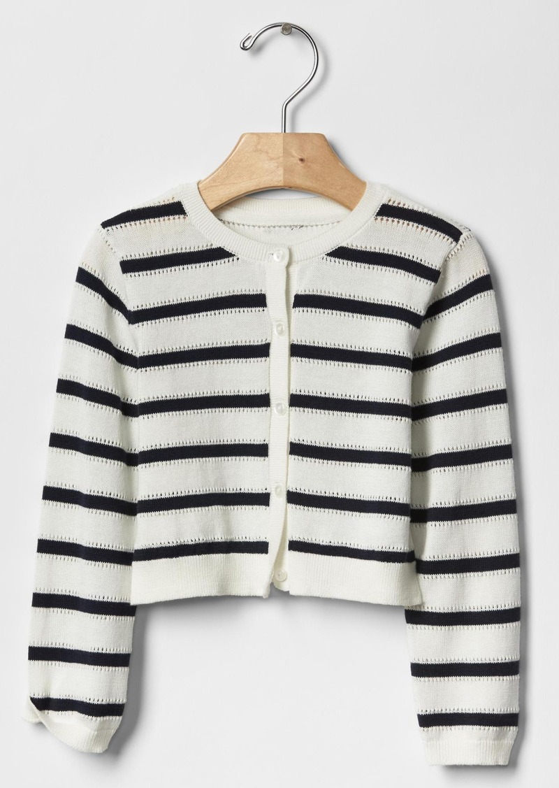 Gap Stripe pointelle cardigan