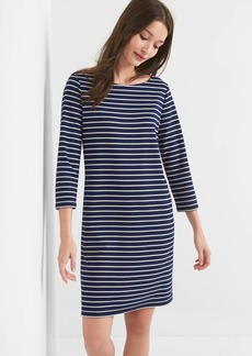 Stripe ponte boatneck dress