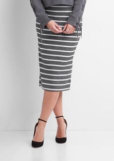 Gap Softspun stripe midi skirt