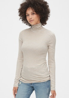 Gap Stripe Ribbed Turtleneck Top in Modal