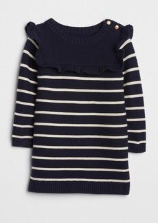 Gap Stripe Ruffle Sweater Dress