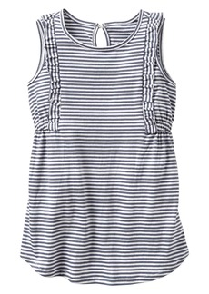 Gap Stripe ruffle-trim dress