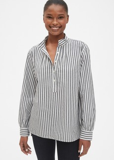 Gap Stripe Shirred Popover Shirt