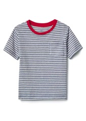 Gap Stripe short sleeve pocket tee