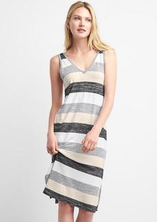 Stripe softspun V-neck midi dress