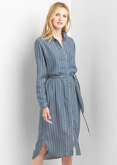 Stripe TENCEL&#153 midi shirtdress