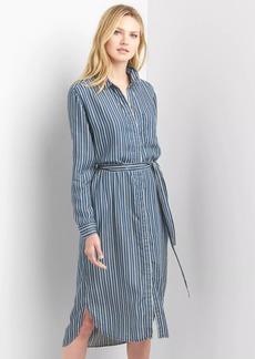 Gap Stripe TENCEL&#153 midi shirtdress