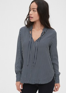 Gap Stripe Tie-Neck Blouse