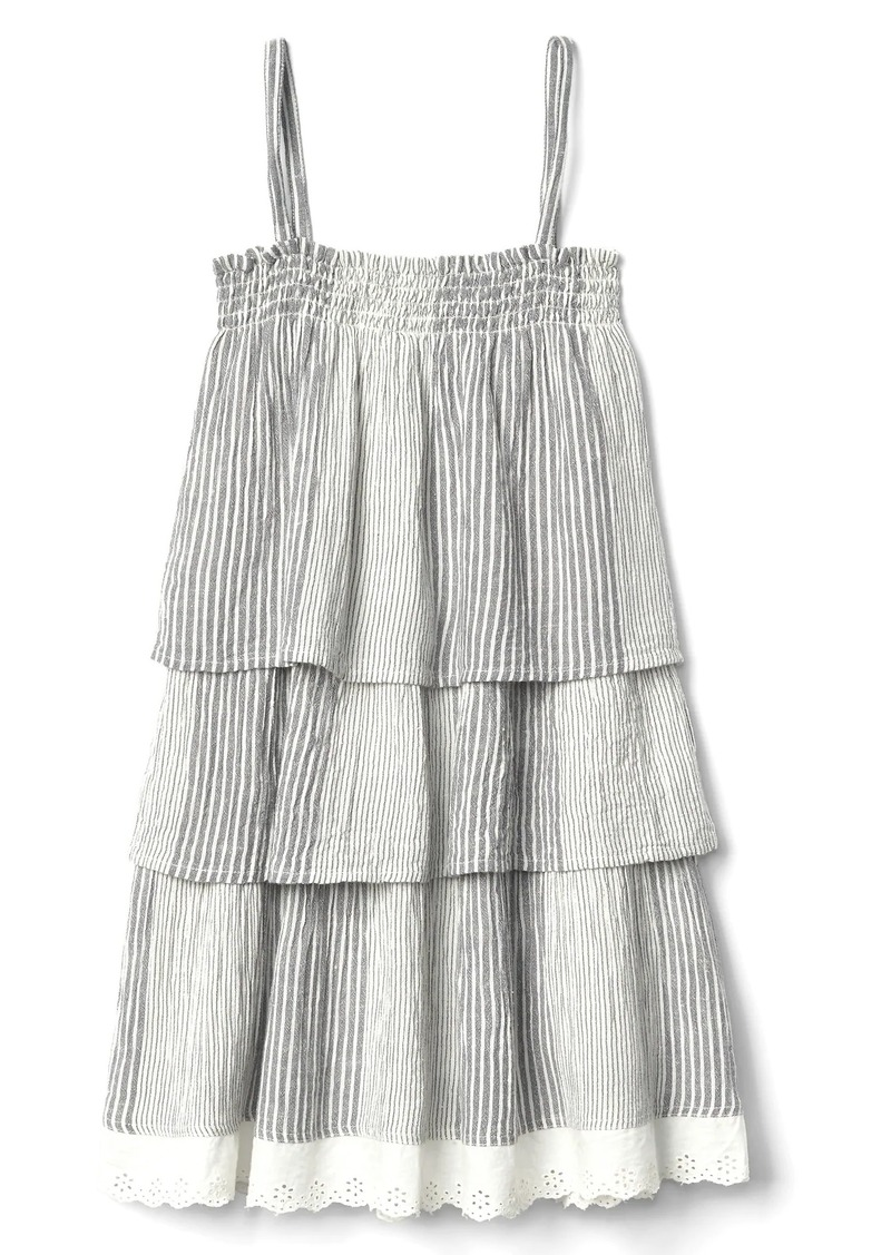 Gap Stripe tier spaghetti dress