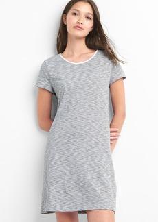 Stripe twist-back t-shirt dress