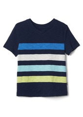 Gap Stripe V-neck slub tee