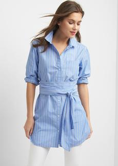 Gap Stripe wrap-belt shirt