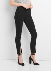 Gap super high rise true skinny ankle jeans in everblack abv2a79f9eb a