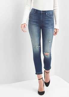 Gap Super High Rise True Skinny Ankle Jeans with Destruction