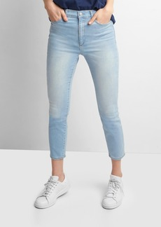 Gap Super high rise true skinny crop jeans