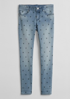 Gap Super Skinny Jeans in Dot Print