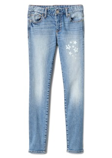 Gap Superdenim Reflective Star Graphic Skinny Jeans with Defendo
