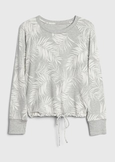 Gap Supersoft Terry Pullover Tie-Front Sweater