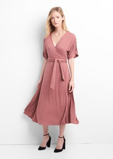 Supersoft wrap midi dress