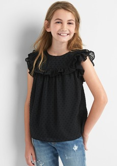 Gap Swiss dot ruffle top