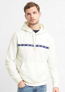 Gap Taped Logo Pullover Hoodie in French Terry