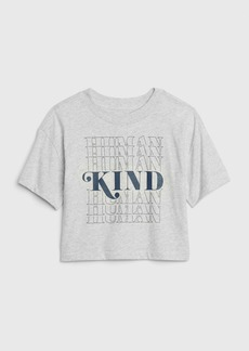 Gap Teen Boxy Graphic Cropped T-Shirt