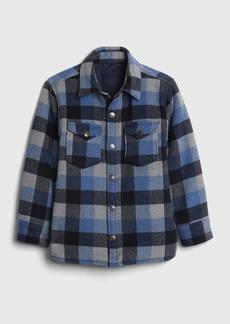 Gap Teen Plaid Shirt Jacket