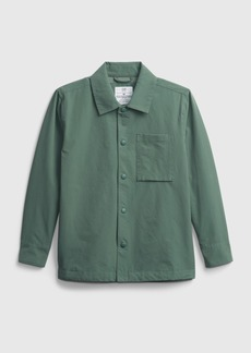 Gap Teen Recycled Shirt Jacket with QuickDry
