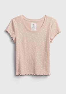 Gap Teen Shrunken Waffle-Knit T-Shirt