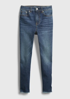 Gap Teen Sky High Rise Skinny Ankle Jeans with Max Stretch