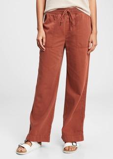 Gap Ribbed Wide-Leg Pull-On Pants