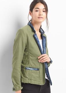 TENCEL&#153 denim-lined blazer