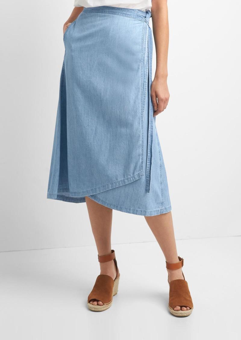 e39b6ed0438f Gap TENCEL™ denim wrap skirt   Skirts