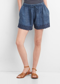 Gap TENCEL&#153 eyelet drawstring shorts