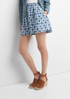 Gap TENCEL&#153 print flutter shorts
