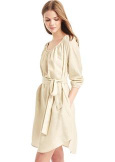 TENCEL&#153 shirred boatneck dress