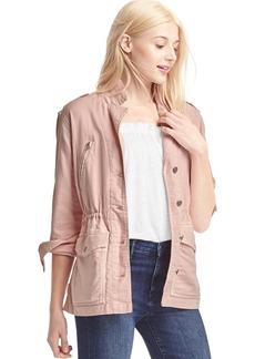 TENCEL&#153 twill utility jacket