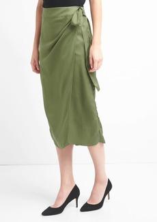 Gap TENCEL&#153 wrap-belt midi skirt