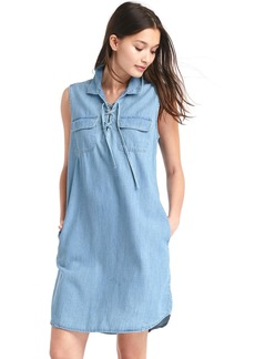 Gap TENCEL&#153 denim lace-up shirtdress