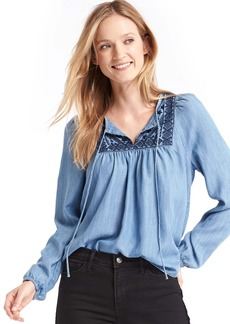 Tencel&#174 indigo blouse