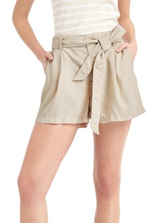 Gap TENCEL&#153 linen paper bag high rise shorts