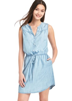 TENCEL&#153 sleeveless shirtdress