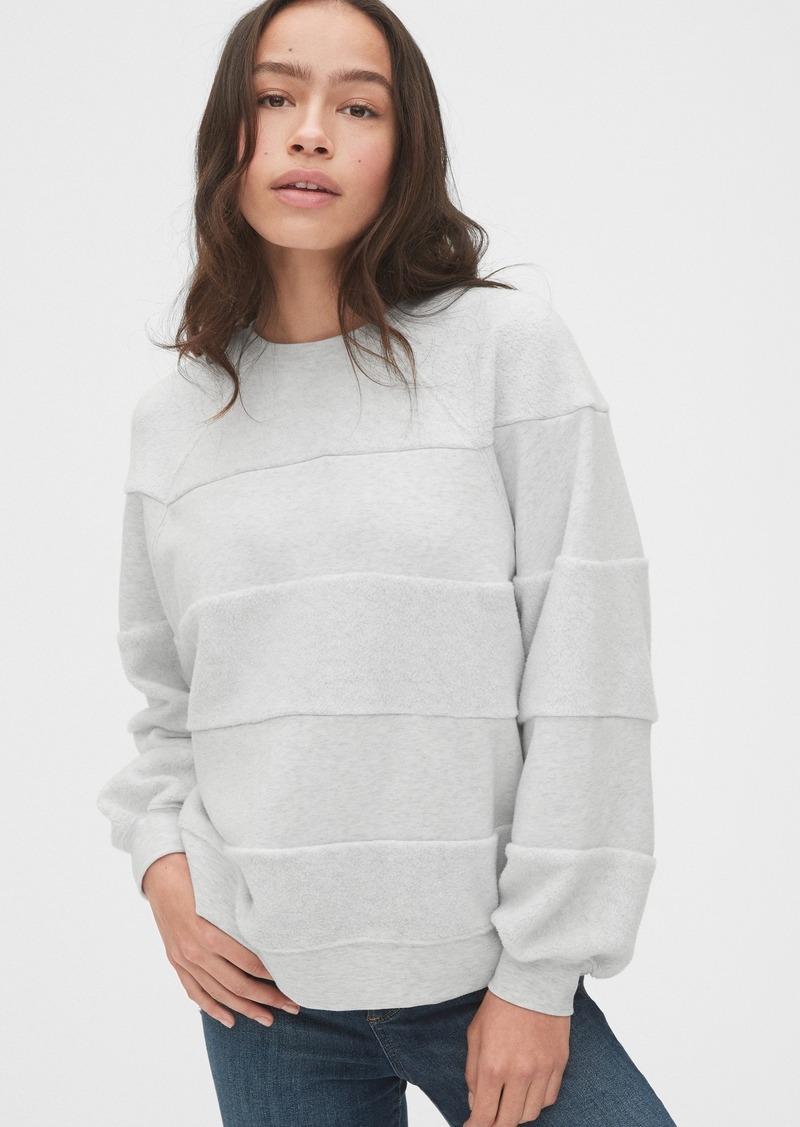 Gap Textured Stripe Raglan Crewneck Sweatshirt