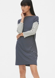 223727c1 Gap Three-Quarter Sleeve Mix-Stripe T-Shirt Dress