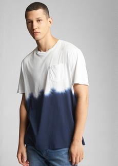 Gap Tie-Dye Pocket Crewneck T-Shirt