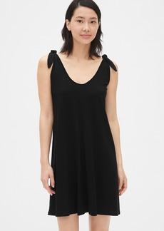 Gap Tie-Shoulder V-Neck Swing Dress
