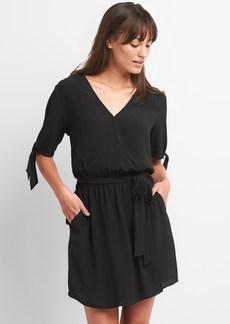 Gap Tie-Sleeve Wrap Dress
