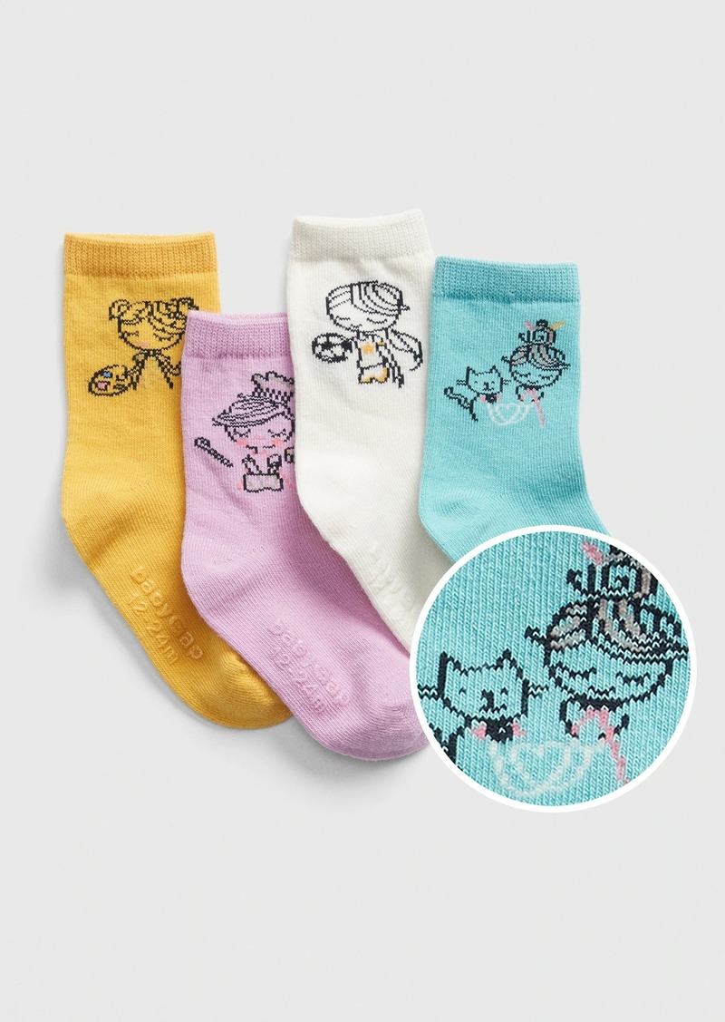 Gap Toddler Bea Crew Socks (4-Pack)